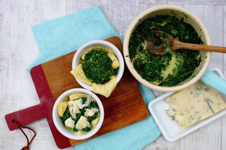 Tartaletki ze szpinakiem i gorgonzolą - Krok 3