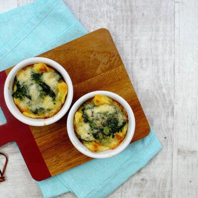 Tartaletki ze szpinakiem i gorgonzolą