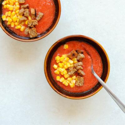 Gazpacho z kukurydzą i grzankami - Krok 3