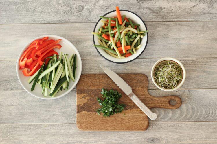 Sajgonki warzywne - Krok 1