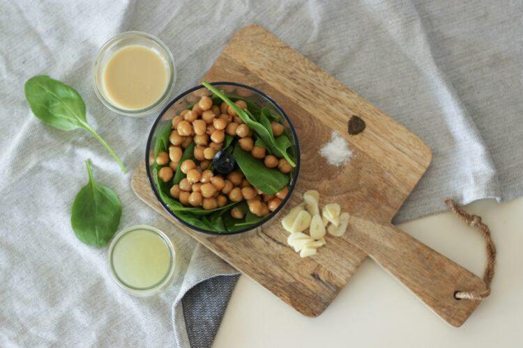 Hummus ze szpinakiem - Krok 3