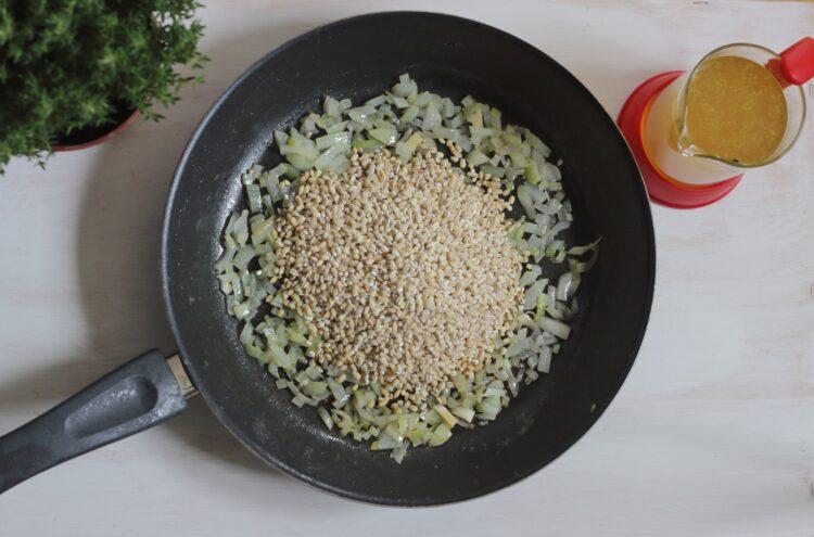 Pęczotto z kurkami i zielonym groszkiem - Krok 3