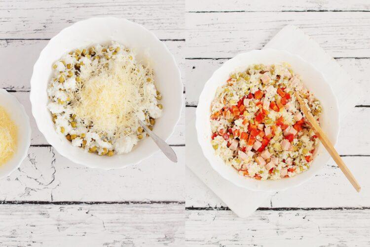 Zapiekanka ryżowa z zielonym groszkiem - Krok 3