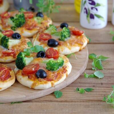 Pizzerinki z warzywami