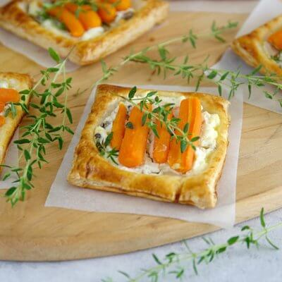 Tartaletki z marchewkami