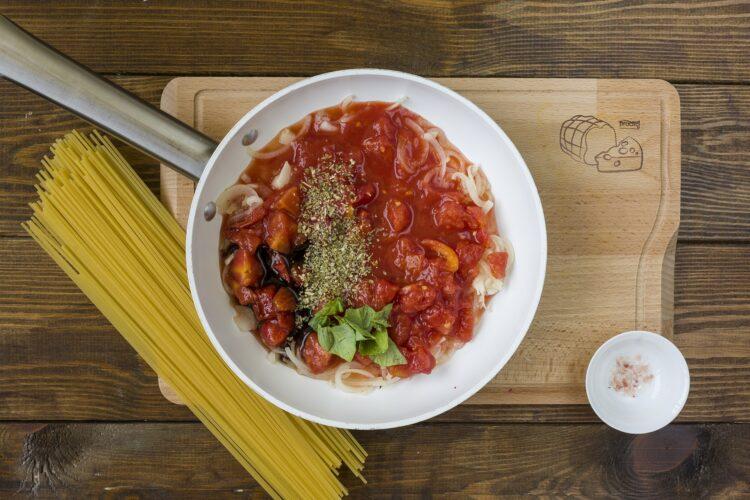 Spaghetti z ciecierzycą - Krok 3