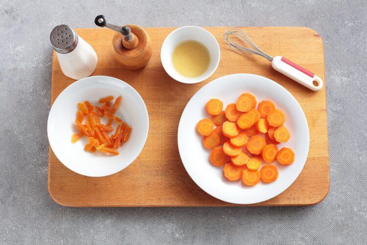 Kasza jaglana z ciecierzycą i pieczoną marchewką - Krok 3