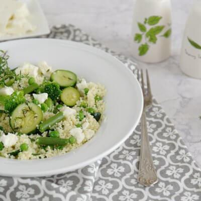 Kasza z zielonymi warzywami