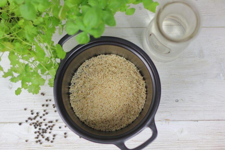 Ryż z cukinią i czerwoną fasolą - Krok 1
