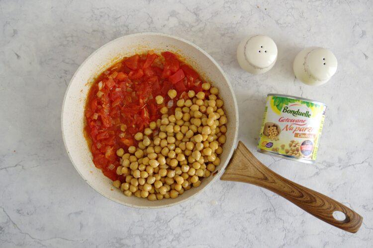 Pieczone letnie warzywa z ciecierzycą - Krok 4