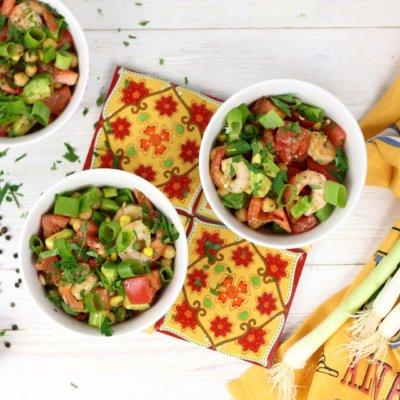 Meksykańska sałatka z krewetkami