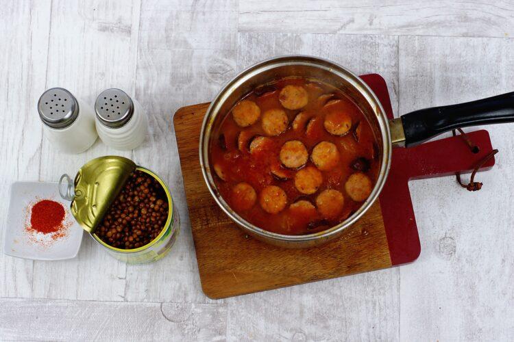 Zupa z kiełbasą i soczewicą - Krok 4