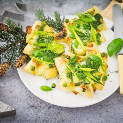 Świąteczne minipizze z zielonymi warzywami