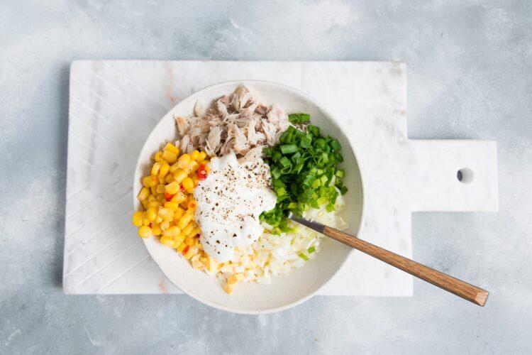 Pasta z makreli z kukurydzą i chili - Krok 4