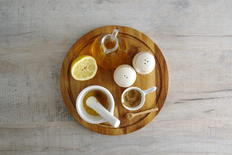 Sałatka z kaszą, cieciorką, papryką, cytryną i koperkiem - Krok 3