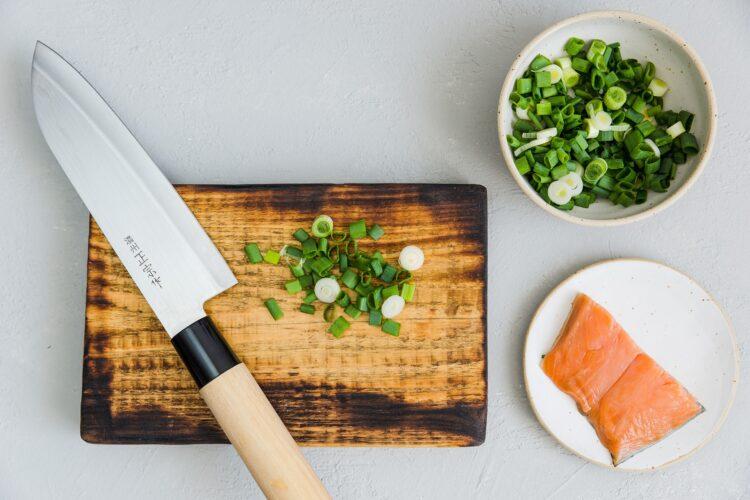Roladka z omleta z kukurydzą i łososiem - Krok 1