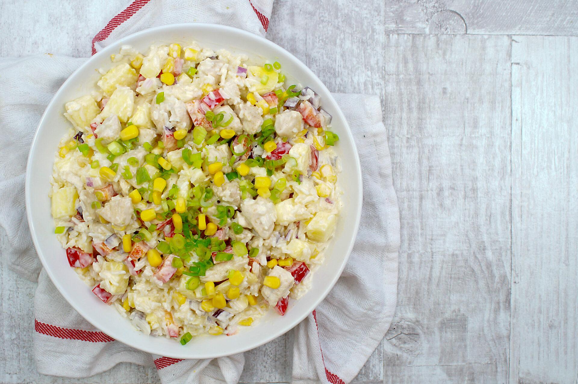 Hawajska Salatka Z Kurczakiem