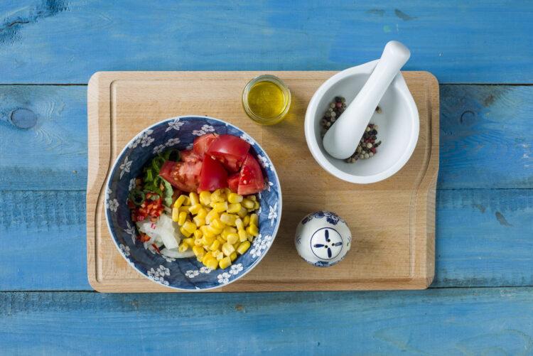 Tosty francuskie z sałatką z kukurydzy - Krok 3