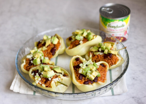 Pieczone papryki z chili sin sarne z awokado - Krok 6