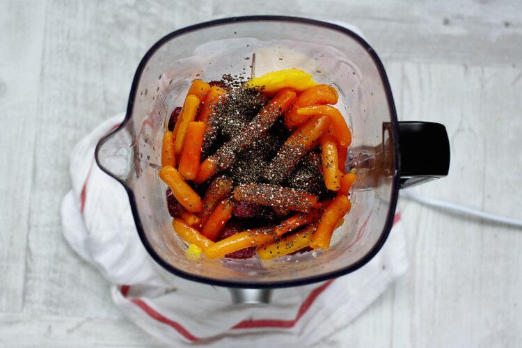 Egzotyczne smoothie z marchewką - Krok 3