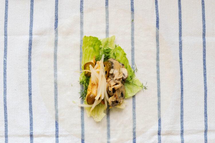 Sajgonki z tofu i kiełkami fasoli mung - Krok 5
