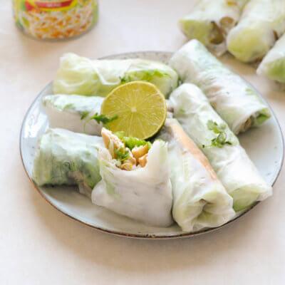 Sajgonki z tofu i kiełkami fasoli mung - Krok 9