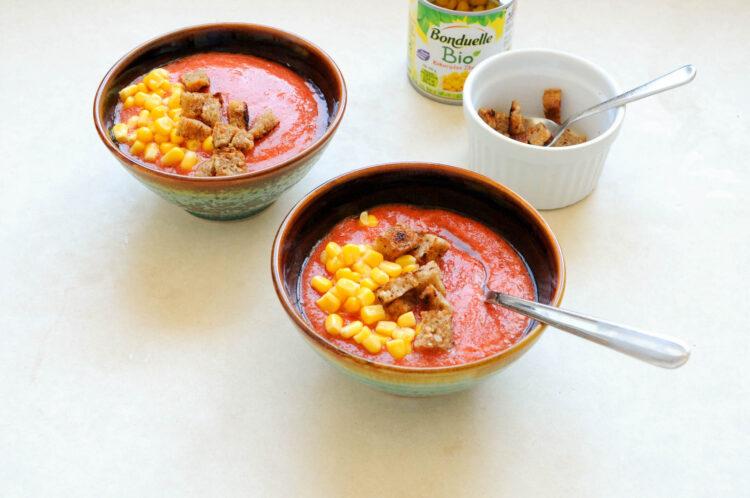 Gazpacho z kukurydzą i grzankami - Krok 4
