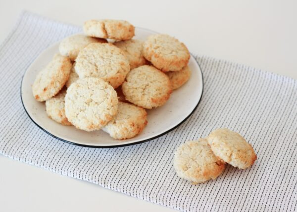 Ciasteczka kokosowe z białą fasolą