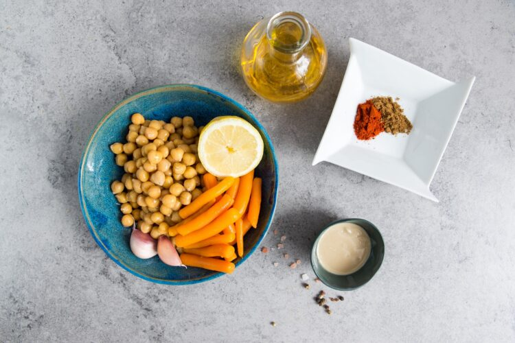 Hummus z marchewką - Krok 2