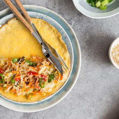 Omlet z warzywami po azjatycku
