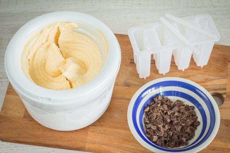Lody marchewkowe z czekoladą - Krok 3