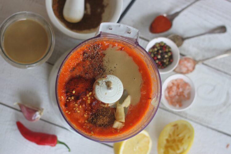 Hummus z pieczoną papryką - Krok 3