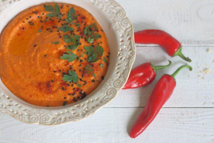 Hummus z pieczoną papryką - Krok 4