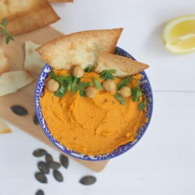 Hummus z pieczoną dynią