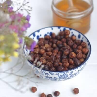 Słodka pieczona cieciorka z miodem i cynamonem