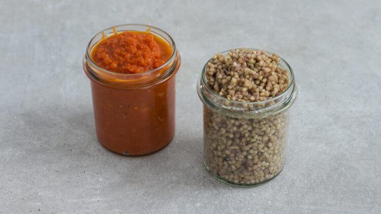 Klopsiki z soczewicy i marchewki z kaszą gryczaną - Krok 3