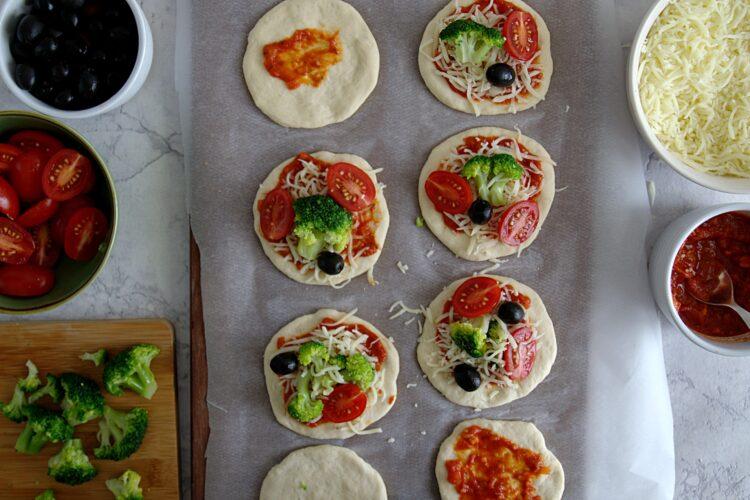 Pizzerinki z warzywami - Krok 4