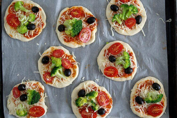 Pizzerinki z warzywami - Krok 5