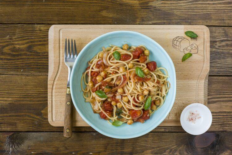 Spaghetti z ciecierzycą - Krok 5