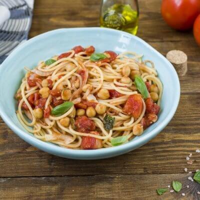 Spaghetti z ciecierzycą