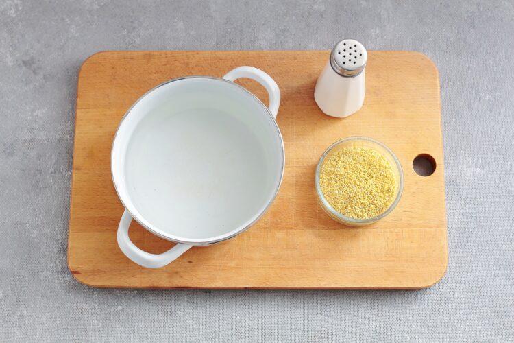 Kasza jaglana z czerwoną fasolą, kukurydzą i pomarańczą - Krok 1