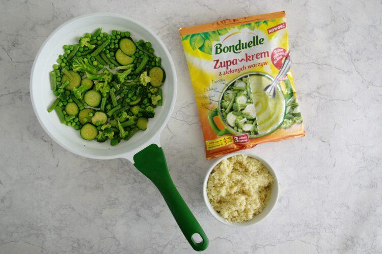 Kasza z zielonymi warzywami - Krok 2