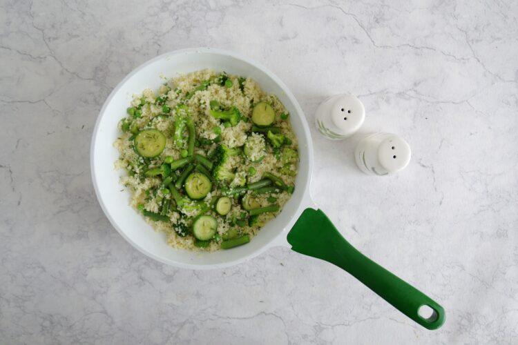 Kasza z zielonymi warzywami - Krok 3