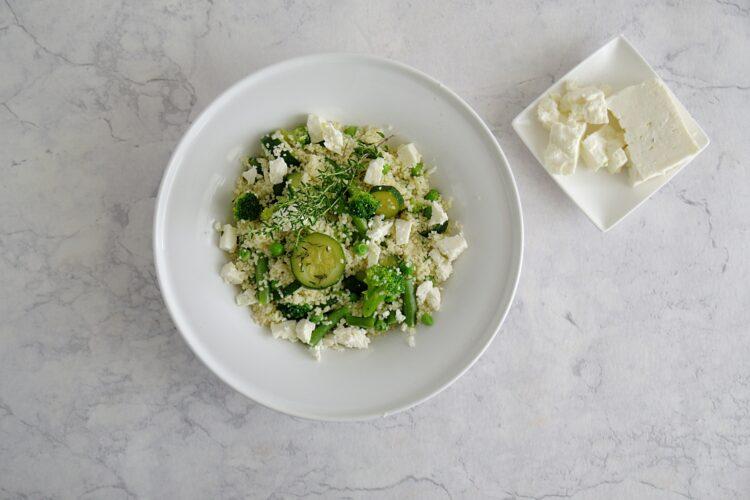 Kasza z zielonymi warzywami - Krok 4