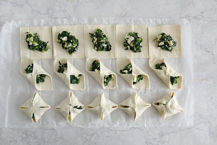 Koperty ze szpinakiem i serem feta - Krok 3