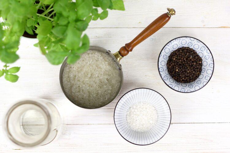 Smażony ryż z pesto - Krok 1