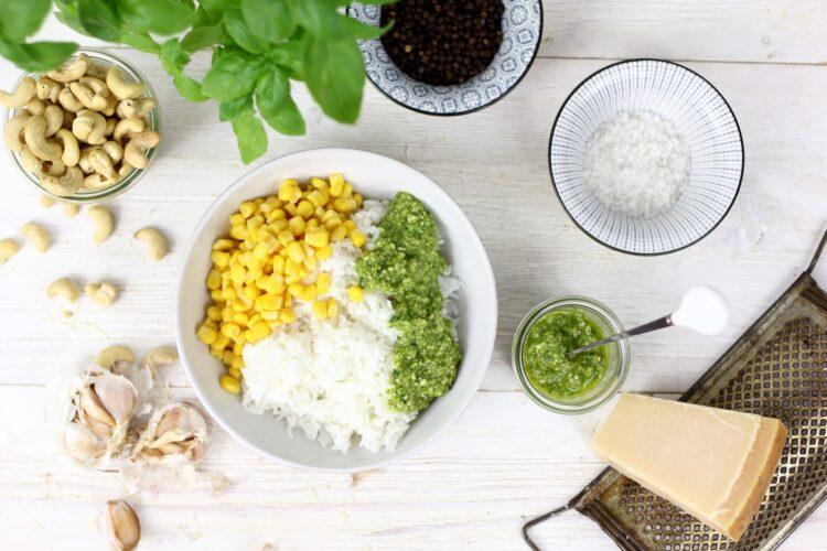 Smażony ryż z pesto - Krok 3