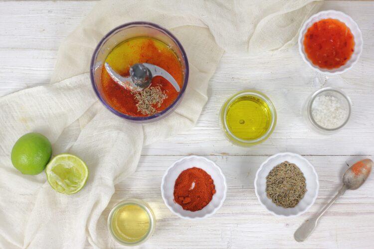 Komosa z mango, czerwoną fasolą i szpinakiem - Krok 4