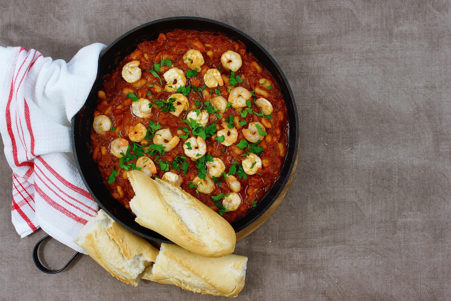 Krewetki Z Fasola W Pomidorach Warzywne Inspiracje Warzywne