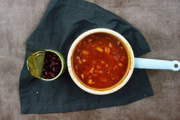 Wegańskie chili z pieczarkami - Krok 4